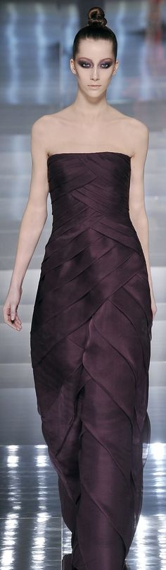 ♔ Valentino Love the fabric manipulation used to achieve almost an overlapped chevron look