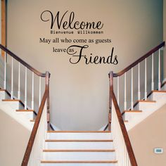 Welcome Wall Decal Sticker on Etsy