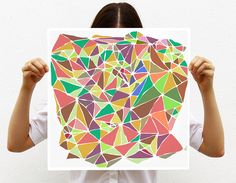 Mosaic collection - Large print - art print - Geometric print - Pastel Colors - Multicolor - Abstract ohtteam by villavera on Etsy https://www.etsy.com/listing/121138275/mosaic-collection-large-print-art-print