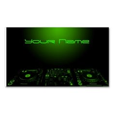 DJ  Business Card. This is a fully customizable business card and available on several paper types for your needs. You can upload your own image or use the image as is. Just click this template to get started!