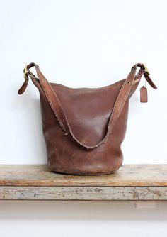 Vintage Coach Duffle Bag // XL Bucket Bag by magnoliavintageco