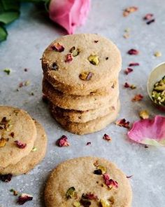 Rose & Pistachio Olive Oil Shortbread made with spelt flour. So beautifully crumbly and flavourful. They make great gifts too! ⠀ .⠀ Find the recipe on @thoughtclothing 's blog or follow this link: https://www.wearethought.com/blog/2016/10/25/rose-pistachio-oil-vegan-shortbread/⠀ .⠀ ⠀ #vegan #dairyfree #foodie #eeeeeats #onmytable #vegansofig #whatveganseat #vscofood #f52grams #feedfeedvegan #foodphotography #forkyeah #veganfoodporn #feastagram #foodstyling #thekitchn #plantpowered #christmas