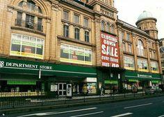 Upper Parliament Street , Nottingham, 2001. Co-op Department Store closing down sale. Photo Credit: Ed Dexter.