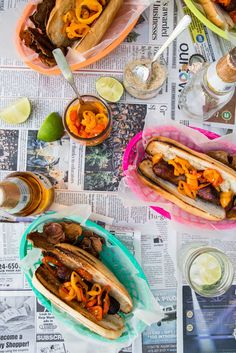 Beer Brats with Pepper Relish, a major upgrade from a hot dog with ketchup, via @jellytoastboard