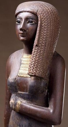 Statue of singer of the god Amon (priestess) Rann, wife of Theban Priest Amenhotep, Egyptian New Kingdom