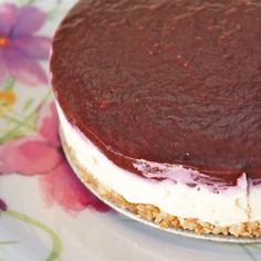 Cheese cake zonder zuivel, glutenvrij en suikervrij Sugar Free Recipes, Sweet Recipes, Cake Recipes, Healthy Cake, Healthy Sweets, Healthy Recipes, Healthy Food, Vegan Baking, Healthy Baking