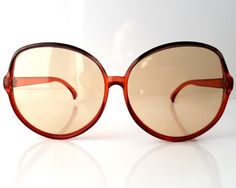 Vintage extravagant oversized sunglasses. In very good vintage condition. Minimal signs of age and use.  The lenses are without the diopters.  Dimensions: front of frame 155 mm (6.10) hinge to hinge 145 mm (5.71) bridge 15 mm (0.59) lens 63 mm x 60 mm (2.48 x 2.36)  ******************************************************************************  Please do not hesitate to contact for any further details.  Also please check the shop policies. This will help to avoid any misunderstanding in…