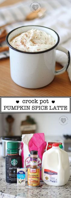 Homemade crock pot p Homemade crock pot pumpkin latte. This recipe is EASY to make and is my go-to drink when entertaining in the fall or winter. Made with REAL ingredients. Everyone loves it. Copycat Starbucks pumpkin spice latte recipe in a crock pot. Copycat Starbucks Pumpkin Spice Latte Recipe, Pumpkin Spiced Latte Recipe, Pumpkin Recipes, Fall Recipes, Homemade Pumpkin Spice Latte, Pumpkin Puree, Holiday Recipes, Holiday Ideas, Christmas Ideas