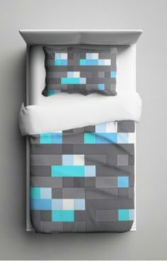 Diamond Minecraft Bedding...