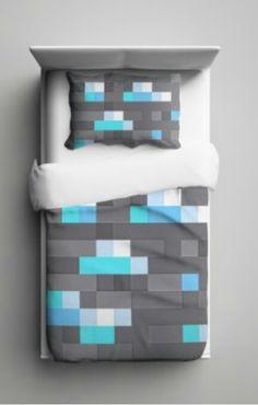 Diamond Minecraft Bedding...