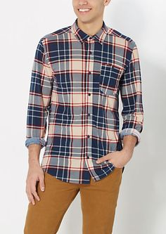 4532f58878 Navy Tartan Plaid Flannel Shirt