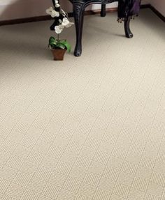 DMI Wool Carpet Carlisle - Cool White  Diamond Pattern