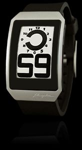 The Digital Hour E Ink watch has an ergonomic curved case with an ultra-thin profile.
