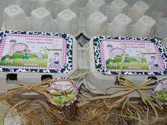 Caixa de ovos fazendinha Rosa