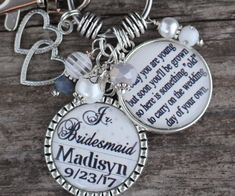 This item is unavailable Junior Bridesmaid Gifts, Personalized Bridesmaid Gifts, Bridesmaid Jewelry, Personalized Jewelry, Silver Wedding Jewelry, Bridal Jewelry, Silver Ring, Ring Bearer Gifts, Mother Of The Groom Gifts
