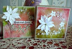 Poppystamps & Memory Box & distress ink backgrounds