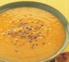 Spicy roasted parsnip soup - used parsnip, carrot, & potato, less stock, all ground spices.