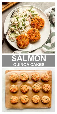 Best way to transform leftover salmon is with salmon quinoa cakes. So easy and great for meal prep. Best way to transform leftover salmon is with salmon quinoa cakes. So easy and great for meal prep. Canned Salmon Recipes, Seafood Recipes, Appetizer Recipes, Vegetarian Recipes, Dinner Recipes, Leftover Salmon Recipes, Salad Recipes, Dinner Ideas, Crockpot Recipes