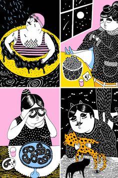 Malin Koort - Handmade, Illustration and Grafic Design via #ImaginativeBloom