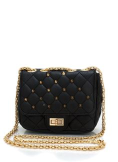 Black ! quilted spike clutch $37.50