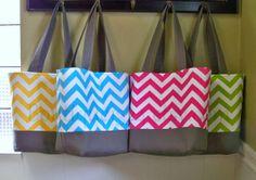 Chevron Tote Bag - Choose your Color | Online auction for Ekubo Children's Home in Uganda!!!