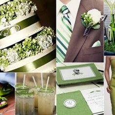 pistachio colored wedding theme