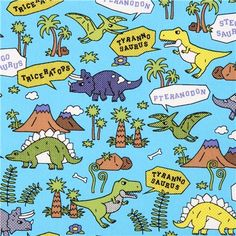 blue Kokka dinosaur oxford fabric for boys from Japan 1 Dinosaur Outfit, Stitching Patterns, Oxford Fabric, Green Backgrounds, T Rex, Artsy Fartsy, Palm Trees, Craft Projects, Fabrics