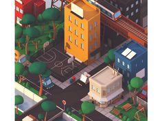 City at sunset by Guillaume Kurkdjian - Dribbble