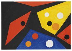 Alexander Calder (1898-1976)   Dotted Interior   1970s, Paintings   Christie's #Art #ARTSTAGRAM