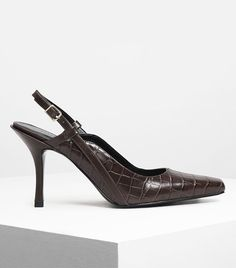 8ce11b1f3b11 Charles & Keith Square Toe Slingbacks Cant Stop Thinking, Fab Shoes, My  Wish List