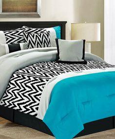 Blue Bentley Comforter Set