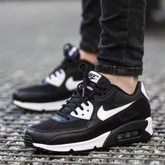 3d263f3774b2c Zapatillas Nike Air Max 90 Essential Negro 2016 Para Mujer