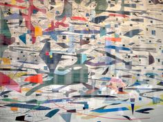 New favorite artist: Julie Mehretu. Fantastic contrast in color, stroke and fill. Her works conveys the bustle of urban life; organized, yet abstract and like a world-wind!