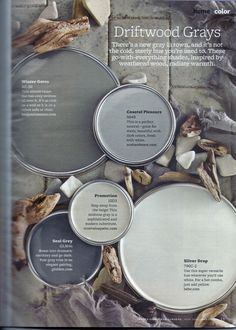 gray paint colors !!!!!!!!!!!!!! Winter gates - dining room, coastal pleasure - living room