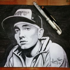 My drawing of Eminem