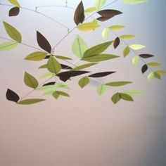 I'm enchanted by the movements of mobiles and the balance. Love this one for the nature theme.
