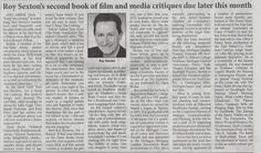 """Thanks to the Columbia City Post and Mail for this coverage of the release of """"Reel Roy Reviews, Vol. 2: Keep 'Em Coming"""" - available now to order at Amazon: http://reelroyreviews.com/2015/01/14/thanks-to-columbia-city-post-mail-for-coverage-of-volume-2/"""