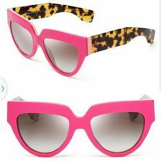 81130b6fac4 Prada Pink Tortoise cat eye SPR sunglasses Brand new no scratches Authentic  No case and cloth Prada Accessories Glasses