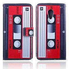 Estojo de couro padrão cassete pu carteira de 5 polegadas com suporte para motorola moto g2 – BRL R$ 32,09