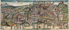 Roma nel XV secolo.  Hartmann Schedel, Cronaca di Norimberga. Norimberga 1493