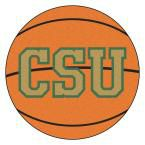 Ncaa Colorado State University CSU Logo Orange 2 ft. 3 in. x 2 ft. 3 in. Round Accent Rug
