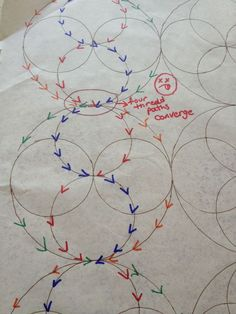 Plotting a path for quilting with your walking foot.