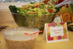 Cute ideas for food - She's about to POP baby shower