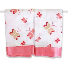 aden + anais x Nay Nay Butterfly Security Blanket - Set of Two Baby Girl Gifts, New Baby Gifts, Portable Toddler Bed, Baby Bedtime, Butterfly Baby, Butterfly Print, Security Blanket, Modern Prints, Cloth Diapers