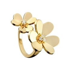 18k yellow gold and diamonds. Van Cleef and Arpels