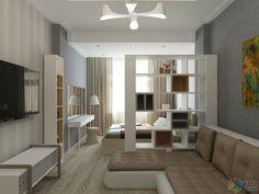 спальня-вітальня - All For Decorations Condo Interior Design, Small Apartment Interior, Small Apartment Design, Small Space Interior Design, Condo Design, Studio Interior, Apartment Living, Studio Apartment Layout, Small Studio Apartments