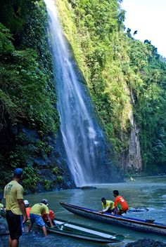 Pagsanjan Falls - Philippines where they take you on a bamboo raft under the waterfall.