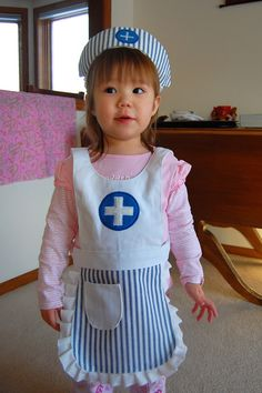 Sewing tutorial dress up nurse apron diy pinterest apron stephanie inglesby i just might have to make this for addi to go with her solutioingenieria Gallery