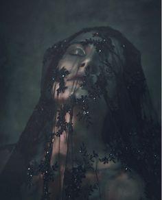veiled | veil | black lace | surrender | fashion editorial