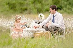 Daddy and Me Tea Party Father's Day Session - Perfect Gift for Father's Day! Fawn Lily Photography - Sidney BC Photographer